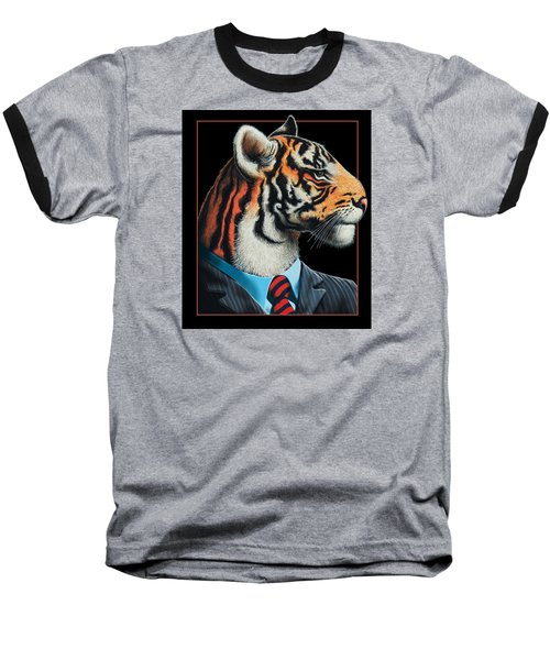 Tigerman Baseball T-Shirt by Scott Ross