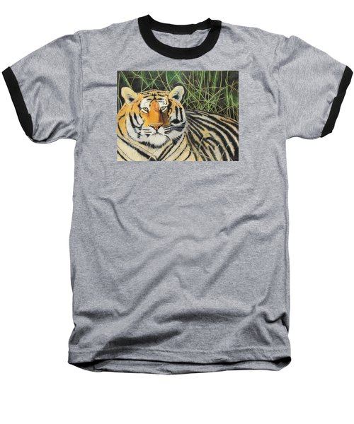 Baseball T-Shirt featuring the painting Tigress by Jeanne Fischer