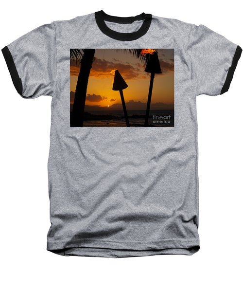 Tiki Time In Maui Baseball T-Shirt