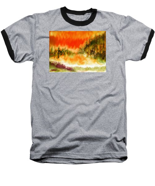 Baseball T-Shirt featuring the mixed media Timber Blaze by Seth Weaver