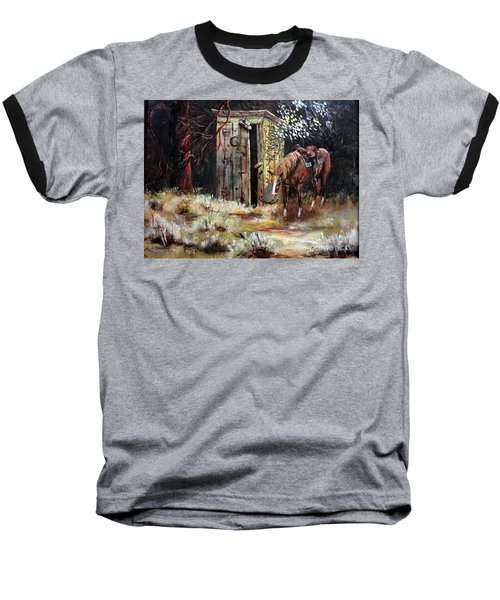 Time Out Baseball T-Shirt by Lee Piper