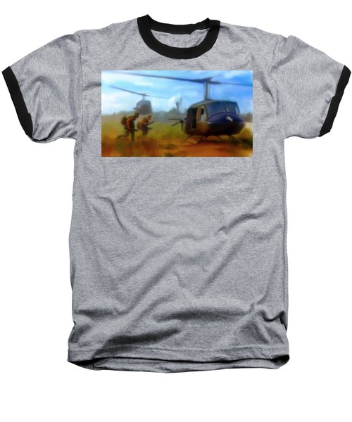 Baseball T-Shirt featuring the painting Time Sacrificed II Vietnam Veterans  by Iconic Images Art Gallery David Pucciarelli