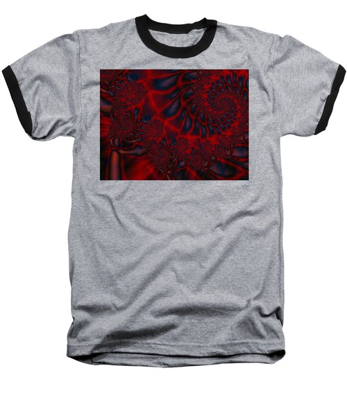 Baseball T-Shirt featuring the digital art Time Slide by Elizabeth McTaggart