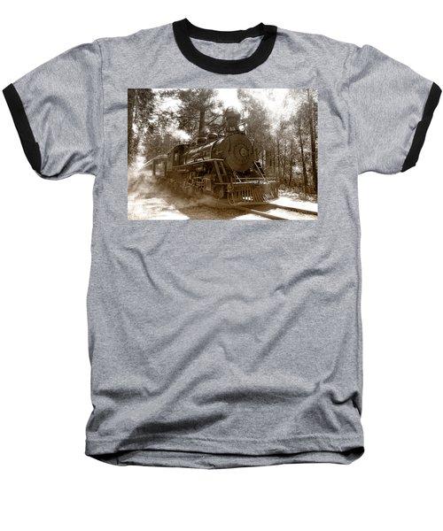 Time Traveler Baseball T-Shirt by Donna Blackhall