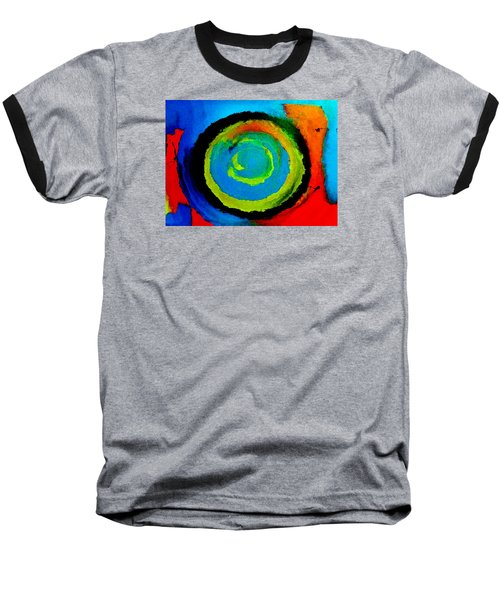 Baseball T-Shirt featuring the painting Time Traveler  by Lisa Kaiser