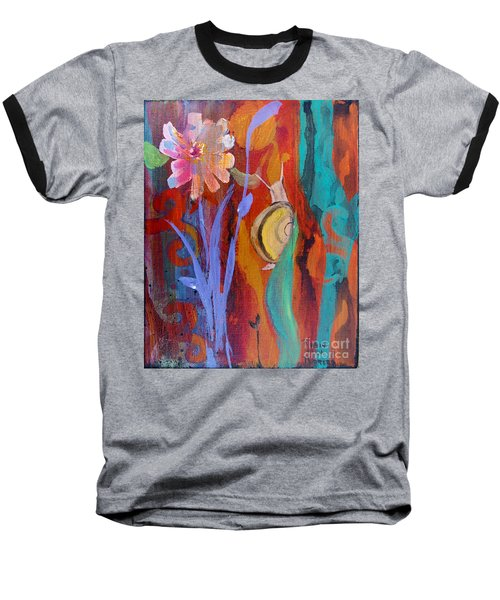 Baseball T-Shirt featuring the painting Time Traveler by Robin Maria Pedrero