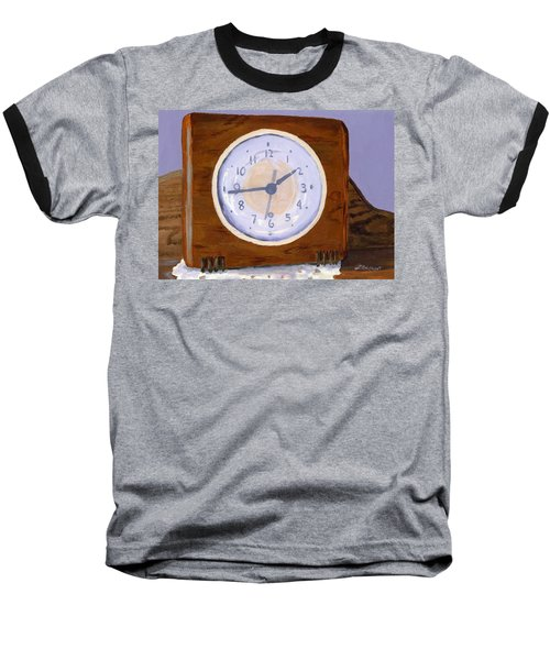 Baseball T-Shirt featuring the painting Time Will Tell by Lynne Reichhart