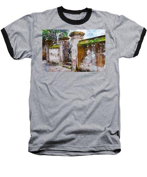Baseball T-Shirt featuring the photograph Brick Wall Charleston South Carolina by Vizual Studio