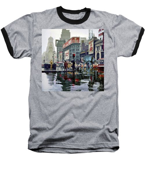 Times Square 1943 Reloaded Baseball T-Shirt