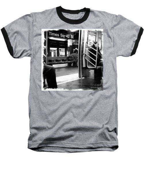 Baseball T-Shirt featuring the photograph Times Square - 42nd St by James Aiken