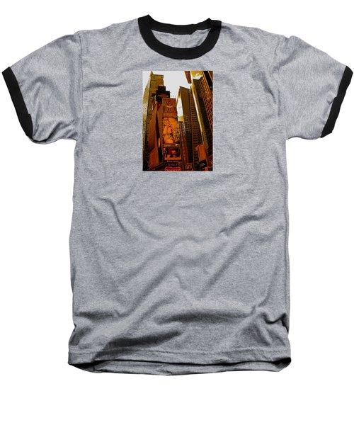 Times Square In Manhattan Baseball T-Shirt
