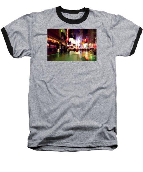 Times Square New York - Nanking Restaurant Baseball T-Shirt by Miriam Danar
