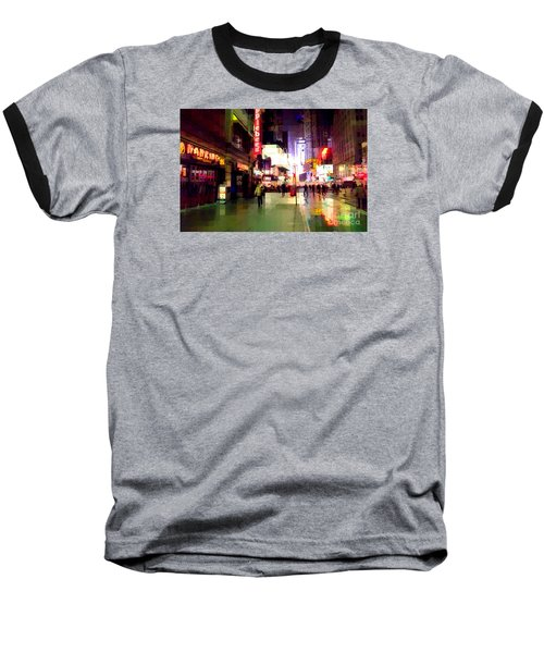 Times Square New York - Nanking Restaurant Baseball T-Shirt
