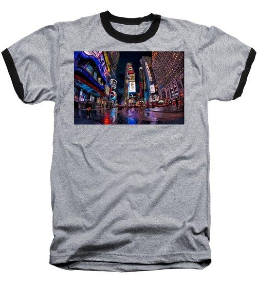 Times Square New York City The City That Never Sleeps Baseball T-Shirt