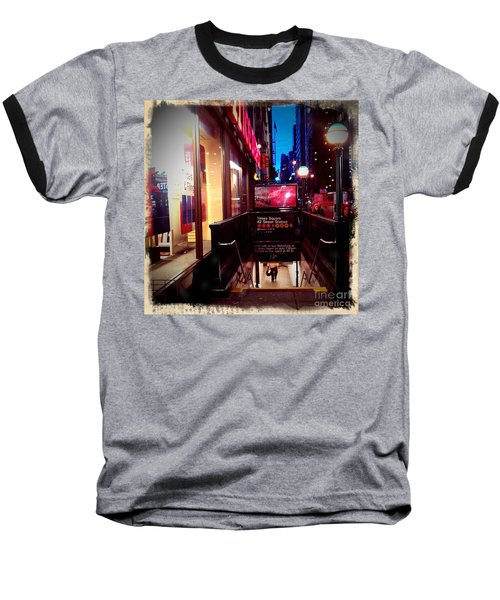 Baseball T-Shirt featuring the photograph Times Square Station by James Aiken