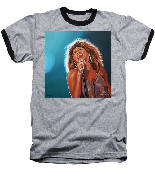 Tina Turner 3 Baseball T-Shirt by Paul Meijering