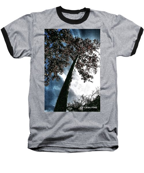 Tippy Top Tree II Art Baseball T-Shirt by Lesa Fine