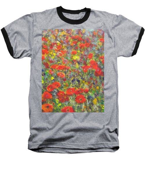 Tiptoe Through A Poppy Field Baseball T-Shirt