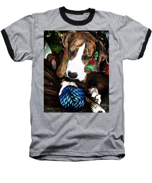 Baseball T-Shirt featuring the photograph 'tis Better To Receive by Robert McCubbin