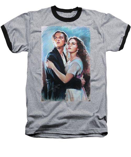 Titanic Jack And Rose Baseball T-Shirt