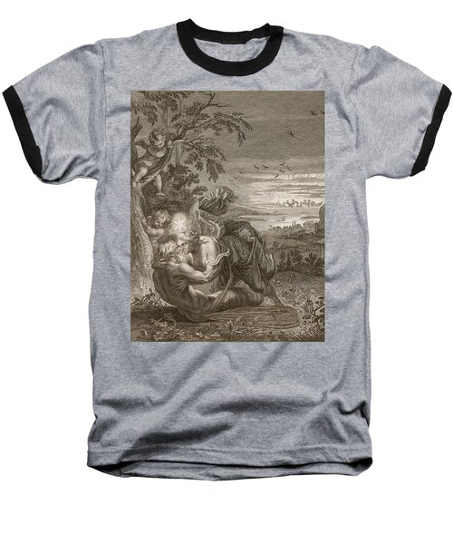 Tithonus, Auroras Husband, Turned Into A Grasshopper Baseball T-Shirt by Bernard Picart