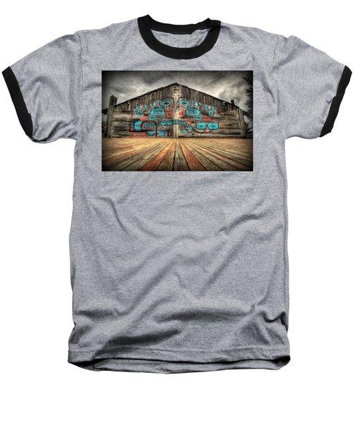 Tlingit Tribal House Haines Alaska Baseball T-Shirt