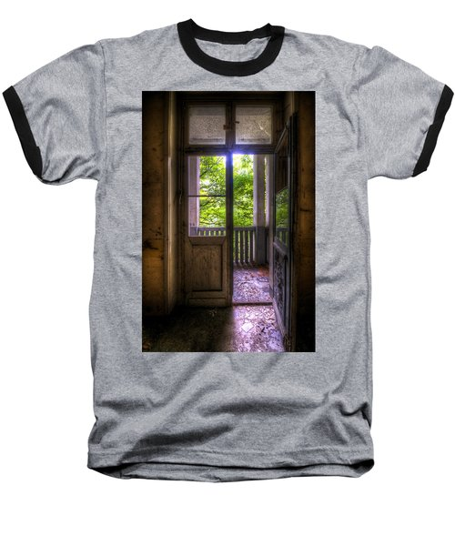 To The Balcony  Baseball T-Shirt by Nathan Wright