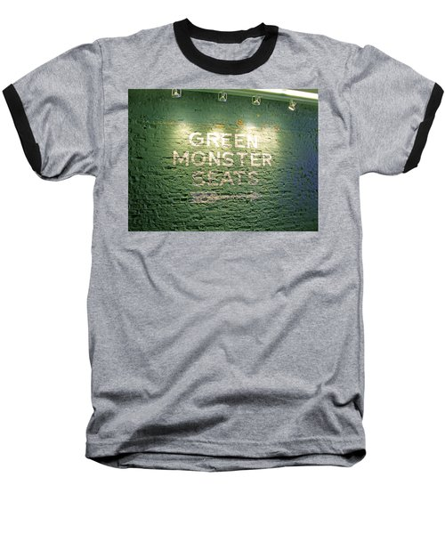 Baseball T-Shirt featuring the photograph To The Green Monster Seats by Barbara McDevitt