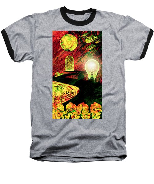 Baseball T-Shirt featuring the mixed media To The Light by Ally  White