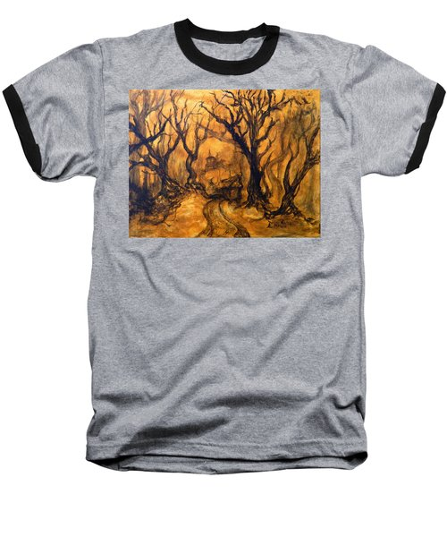 Baseball T-Shirt featuring the painting Toad Hollow by Christophe Ennis