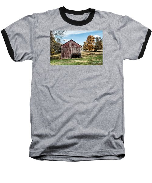 Baseball T-Shirt featuring the photograph Tobacco Barn Ready For Smoking by Debbie Green