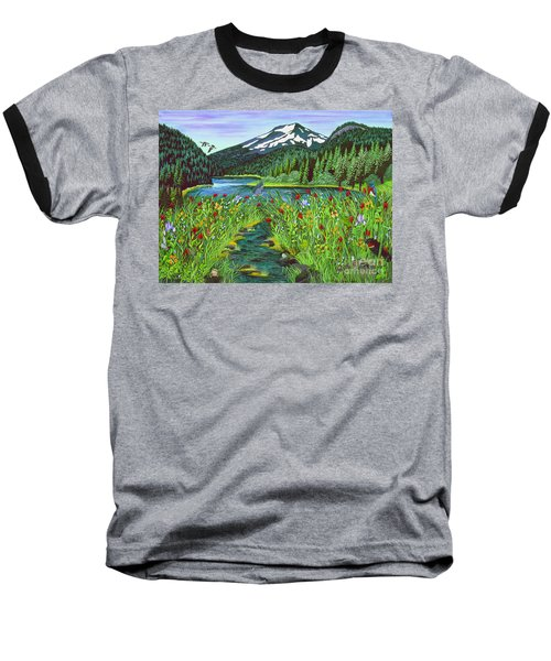 Todd Lake Mt. Bachelor Baseball T-Shirt