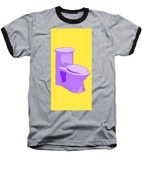 Toilette In Purple Baseball T-Shirt