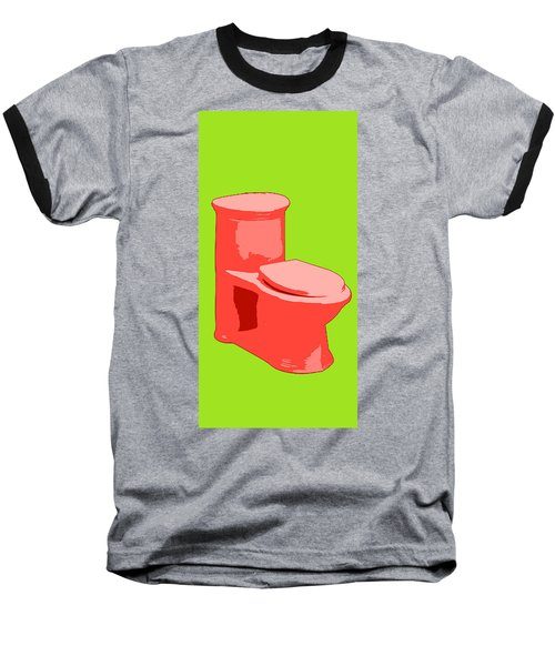 Toilette In Red Baseball T-Shirt