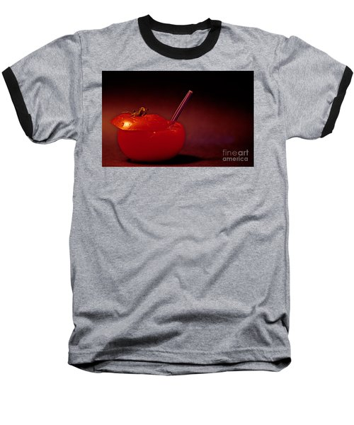 Baseball T-Shirt featuring the photograph Tomato Juice by Sharon Elliott