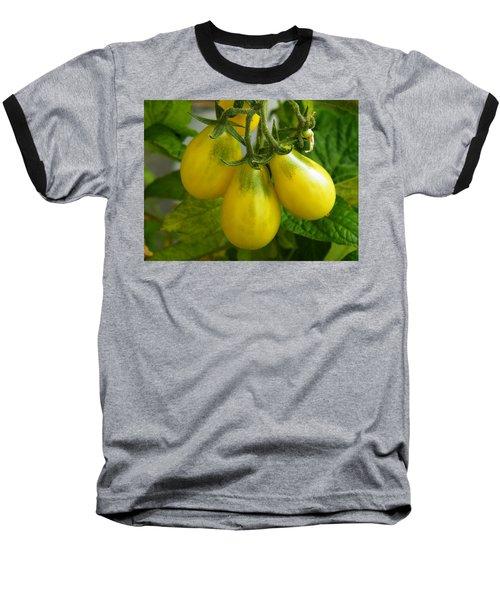 Tomato Triptych Baseball T-Shirt by Brian Boyle
