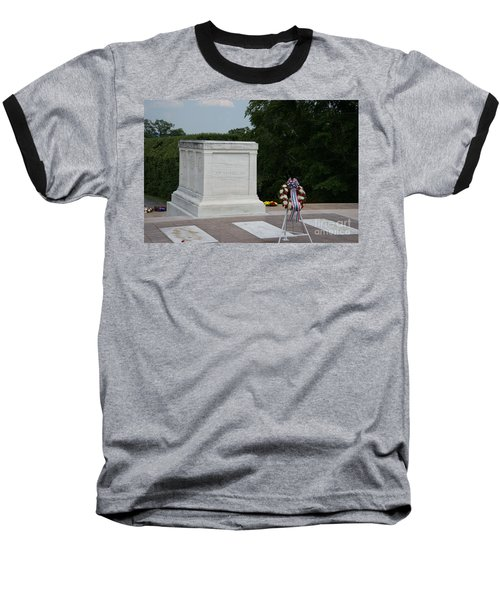 Tomb Of The Unknown Soldier Baseball T-Shirt by Carol Ailles