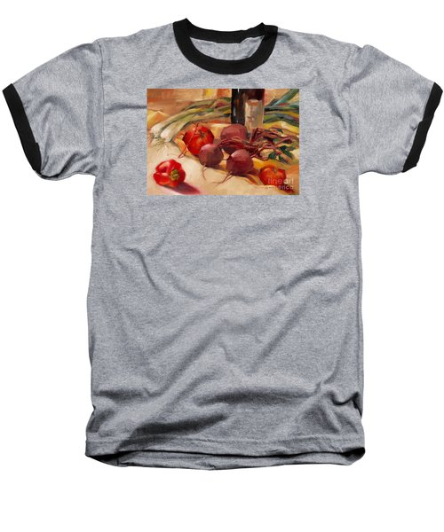 Baseball T-Shirt featuring the painting Tom's Bounty by Michelle Abrams
