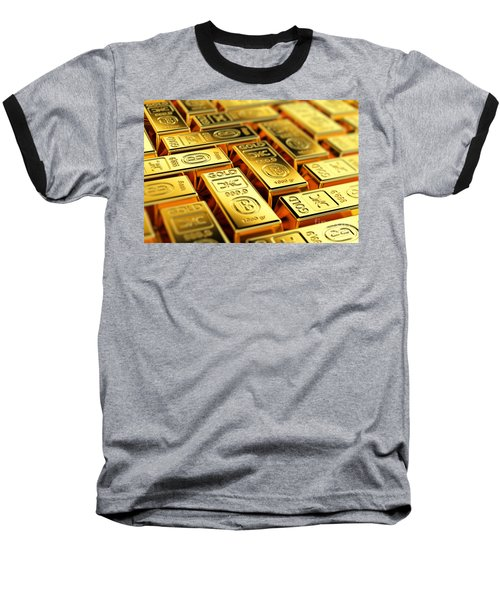 Tons Of Gold Baseball T-Shirt by Carsten Reisinger