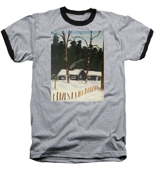 Tonys House In Sweden Baseball T-Shirt by Pamela  Meredith