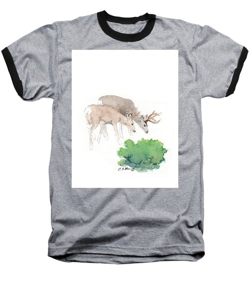 Baseball T-Shirt featuring the painting Too Dear by C Sitton