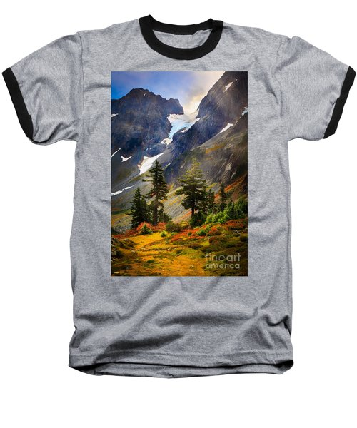 Top Of Cascade Pass Baseball T-Shirt by Inge Johnsson