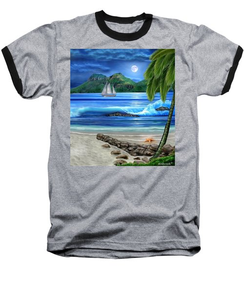 Tropical Paradise Baseball T-Shirt by Glenn Holbrook