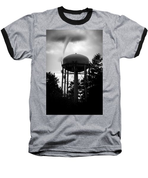 Nature Baseball T-Shirt featuring the photograph Tornado Tower by Aaron Berg