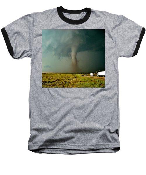 Tornado Truck Stop II Baseball T-Shirt by Ed Sweeney