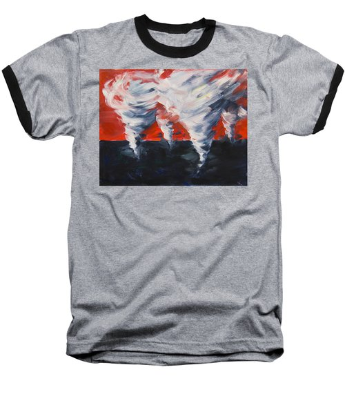 Baseball T-Shirt featuring the painting Apocalyptic Dream by Yulia Kazansky