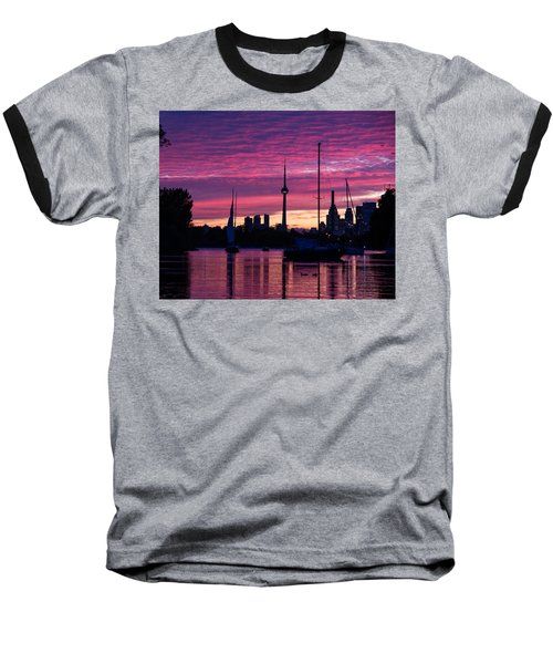 Toronto Skyline - The Boats Are Coming In Baseball T-Shirt