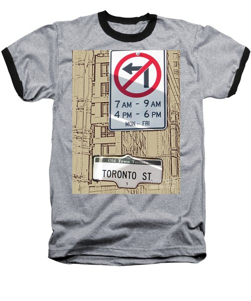 Toronto Street Sign Baseball T-Shirt