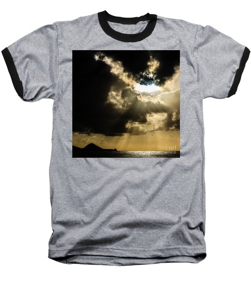 Total Solar Eclipse Breakthrough Baseball T-Shirt