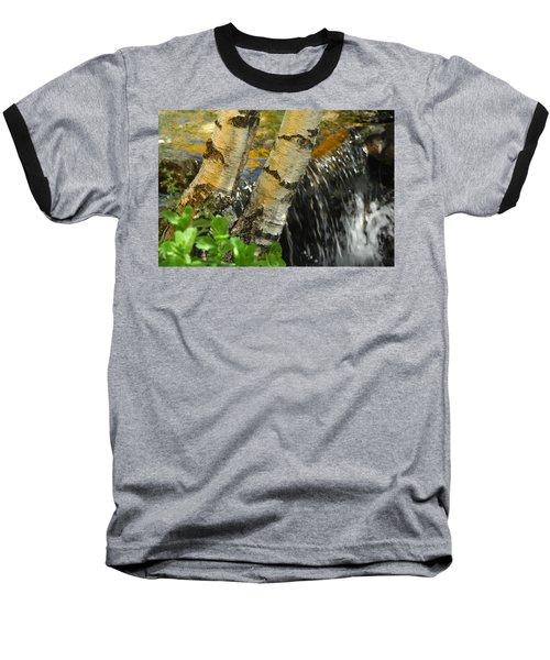 Totally Birching Baseball T-Shirt by Donna Blackhall
